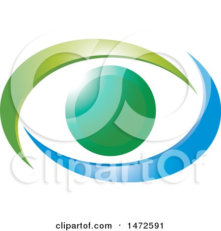 Clipart of a Gradient Abstract Eye - Royalty Free Vector Illustration by Lal Perera