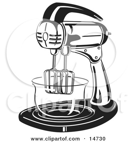 Electric Mixer in a Kitchen Clipart Illustration by Andy Nortnik
