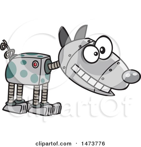 Clipart of a Cartoon Robotic Dog - Royalty Free Vector Illustration by toonaday