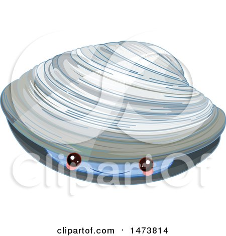 Clipart of a Cute Quahog Hard Clam - Royalty Free Vector Illustration by Pushkin
