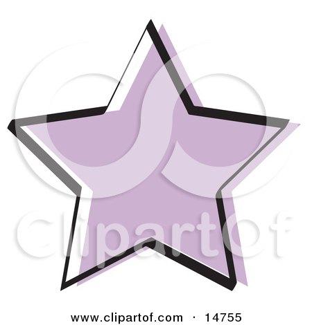 Purple Star Shape Clipart Illustration by Andy Nortnik