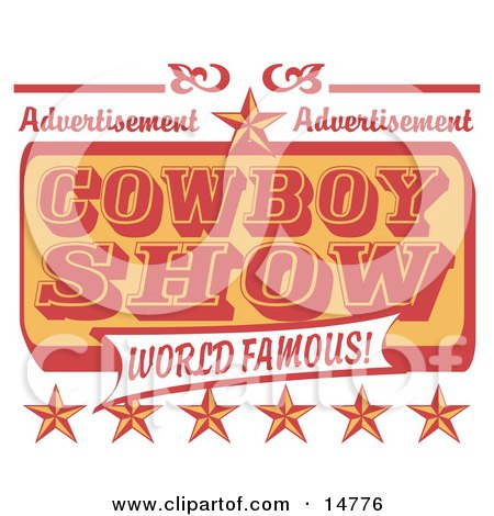 Vintage Advertisement For A World Famous Cowboy Show With Stars Posters, Art Prints
