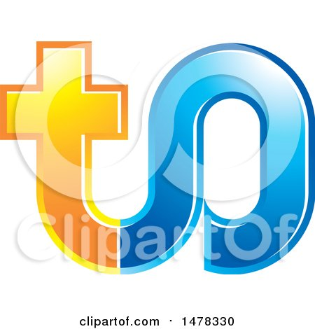 Clipart of a Letter T O Design - Royalty Free Vector Illustration by Lal Perera