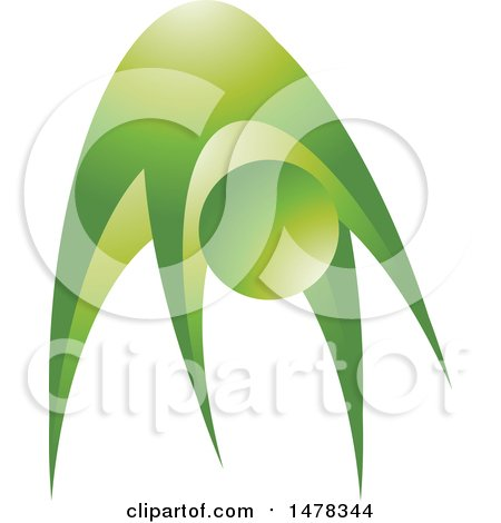 Clipart of a Green Abstract Person Exercising - Royalty Free Vector Illustration by Lal Perera