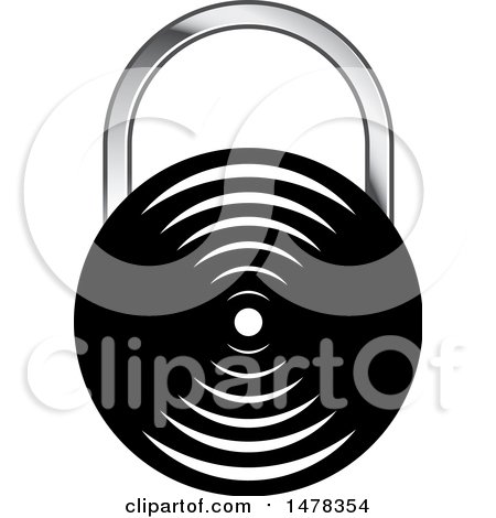 Clipart of a Padlock Design - Royalty Free Vector Illustration by Lal Perera