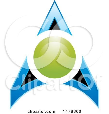 Clipart of a Circle and Arrow Design - Royalty Free Vector Illustration by Lal Perera