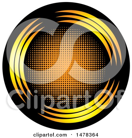 Clipart of a Black and Orange Circle Design - Royalty Free Vector Illustration by Lal Perera