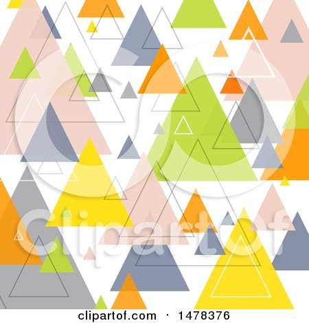 Clipart of a Geometric Retro Pyramid or Triangle Background - Royalty Free Vector Illustration by KJ Pargeter