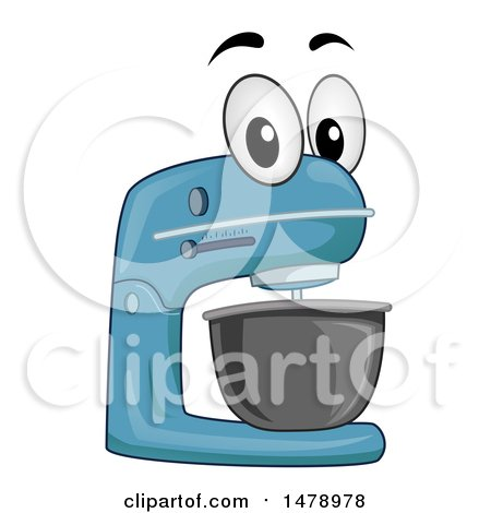 Clipart of a Stand Mixer Mascot - Royalty Free Vector Illustration by BNP Design Studio