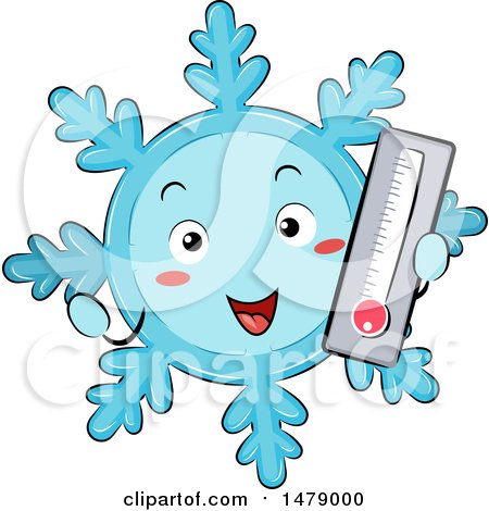 Snowflake Mascot Holding a Cold Thermometer Posters, Art Prints