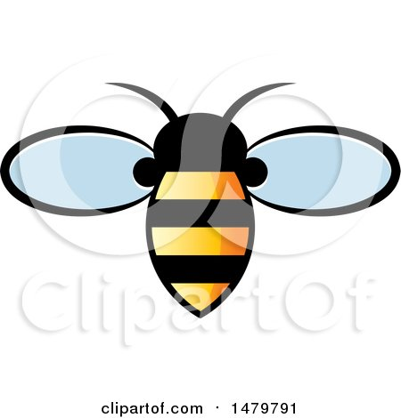 Clipart of a Bee with Gradient Stripes - Royalty Free Vector Illustration by Lal Perera