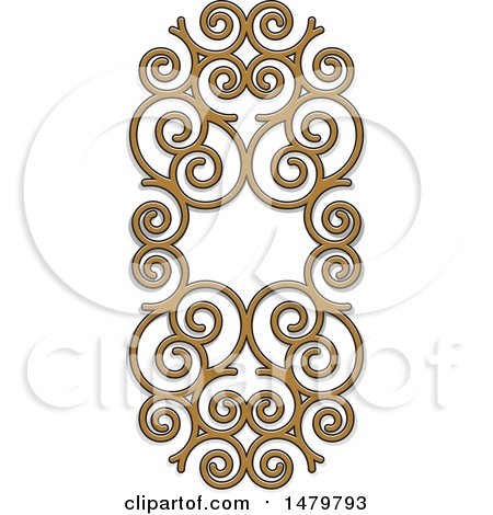 Clipart of a Spiral Frame Design Element - Royalty Free Vector Illustration by Lal Perera