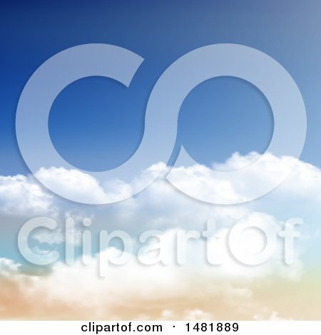 Clipart of a Sky Background - Royalty Free Vector Illustration by KJ Pargeter
