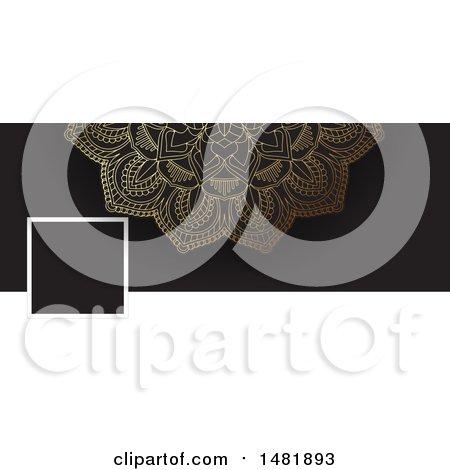 Clipart of a Mandala Social Media Banner - Royalty Free Vector Illustration by KJ Pargeter