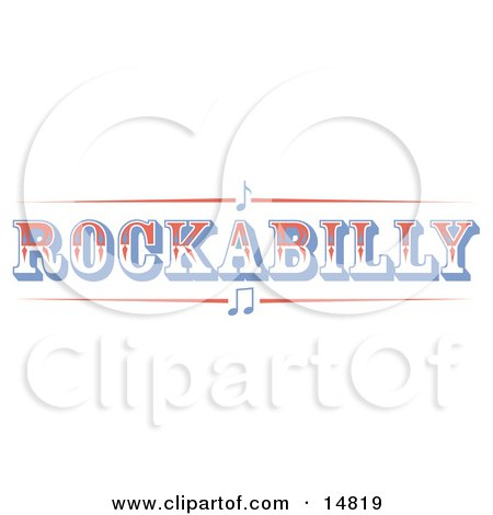Western Rockabilly Music Sign Clipart Illustration by Andy Nortnik