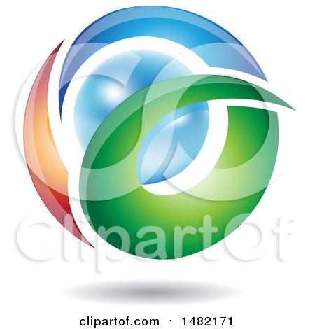 Clipart of an Abstract Letter a Around a Pearl - Royalty Free Vector Illustration by cidepix