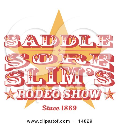 Vintage Rodeo Sign With a Star Clipart Illustration by Andy Nortnik