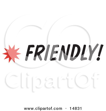 Friendly Sign With a Star Burst Clipart Picture by Andy Nortnik
