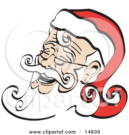 Printable Santa Claus Clip Art Christmas Cartoon by Andy Nortnik