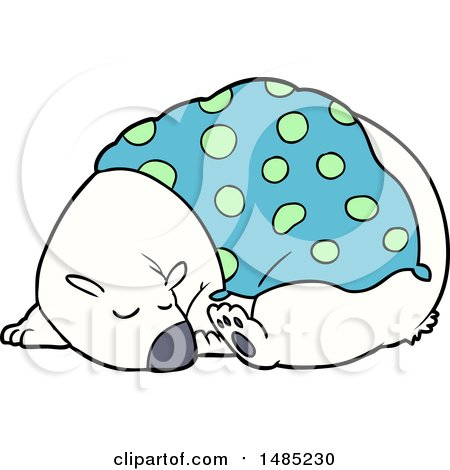 Sleeping Polar Bear Cartoon - canstockphoto.com