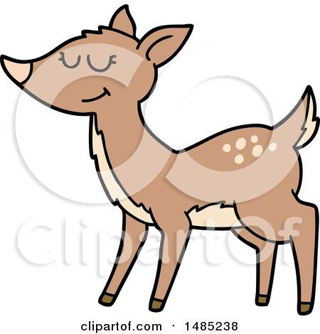 Clipart Cartoon Deer by lineartestpilot