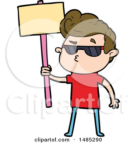 Clipart Cartoon Cool Guy by lineartestpilot