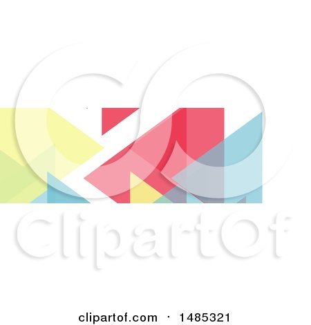 Clipart of a Geometric Social Media Cover Banner Design Element - Royalty Free Vector Illustration by KJ Pargeter
