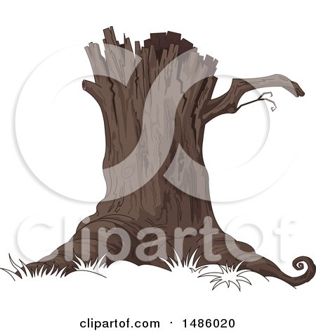 Clipart of a Tree Stump - Royalty Free Vector Illustration by Pushkin