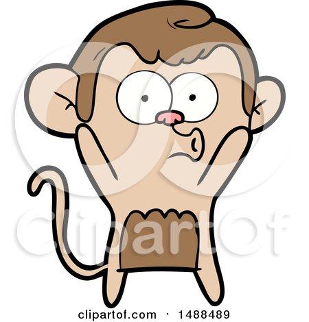 Cartoon Surprised Monkey by lineartestpilot
