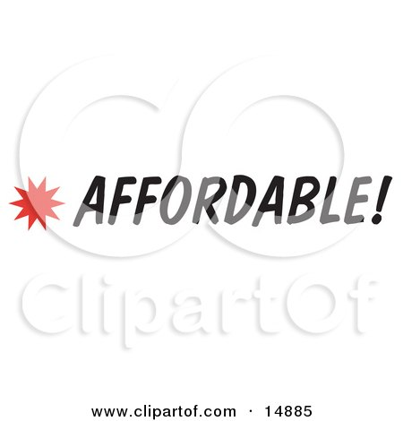 Affordable Sign With a Star Burst Clipart Picture by Andy Nortnik