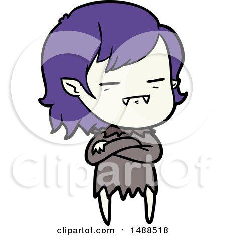 Cartoon Undead Vampire Girl by lineartestpilot