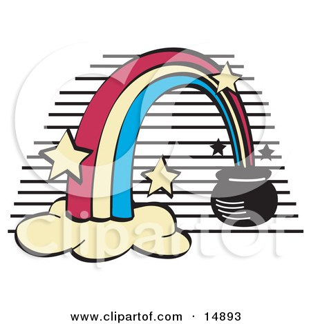 Pot of Gold at the End of a Rainbow  Posters, Art Prints
