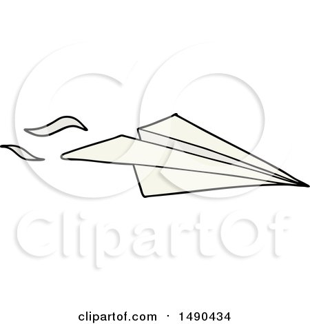 Cartoon Paper Airplane by lineartestpilot