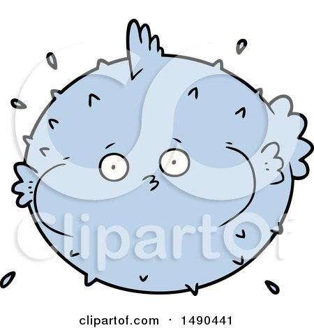 Clipart Cartoon Puffer Fish by lineartestpilot