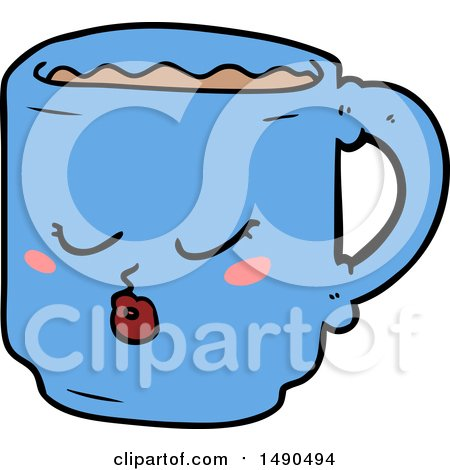 Clipart Cartoon Coffee Mug by lineartestpilot