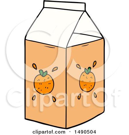 Clipart Cartoon Orange Juice Carton by lineartestpilot
