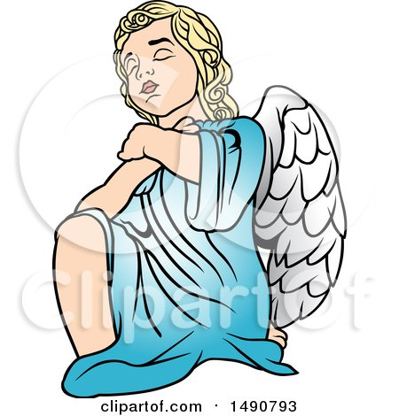 Clipart of a Cherub - Royalty Free Vector Illustration by dero