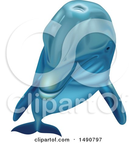 Clipart of a Bottlenose Dolphin - Royalty Free Vector Illustration by dero