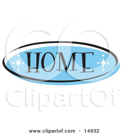 Blue Home Website Button That Could Link To The Home Page On A Site Clipart Illustration by Andy Nortnik