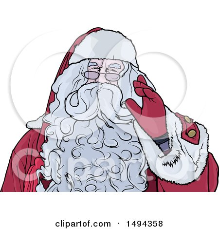 Clipart of Santa Claus - Royalty Free Vector Illustration by dero