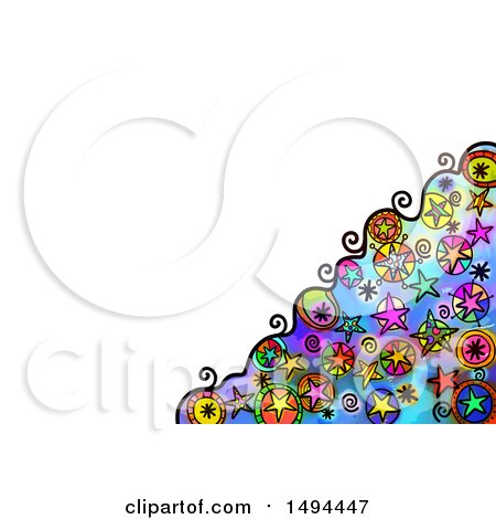 Clipart of a Doodle Watercolor Star Design, on a White Background - Royalty Free Illustration by Prawny