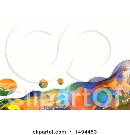 Clipart of a Watercolor Design on a White Background - Royalty Free Illustration by Prawny