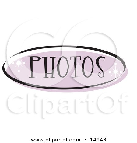 Purple Photos Website Button That Could Link To A Picture Page On A Site Clipart Illustration by Andy Nortnik
