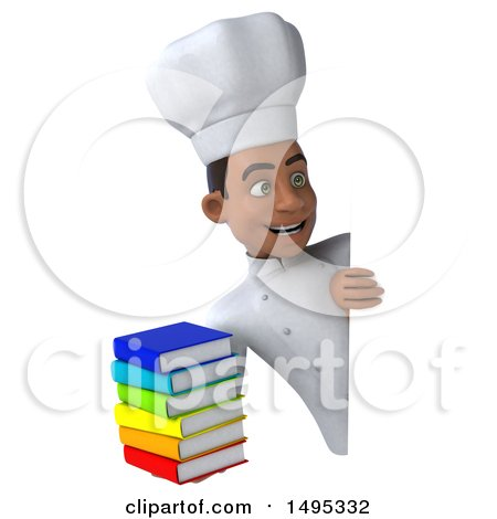 3d Young Black Male Chef, on a White Background Posters, Art Prints