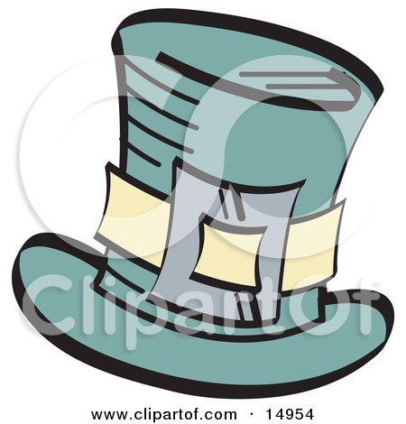 Leprechaun's Green Tophat With A Buckle Clipart Illustration by Andy Nortnik