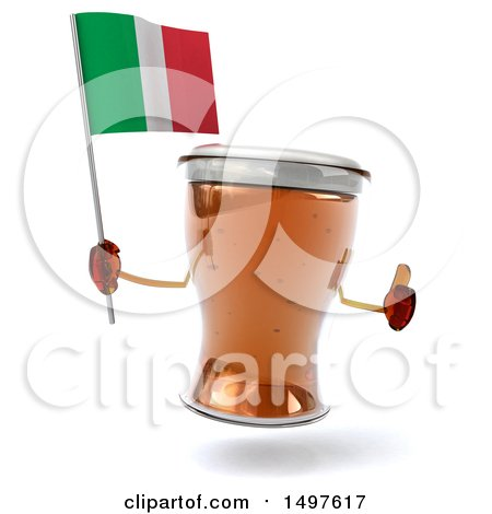 Clipart of a 3d Beer Mug Character, on a White Background - Royalty Free Illustration by Julos