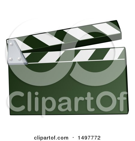 Clipart of a Clapper Board - Royalty Free Vector Illustration by AtStockIllustration
