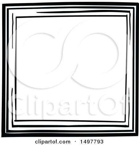 Clipart Of A sketched frame design element - Royalty Free Vector Illustration by yayayoyo