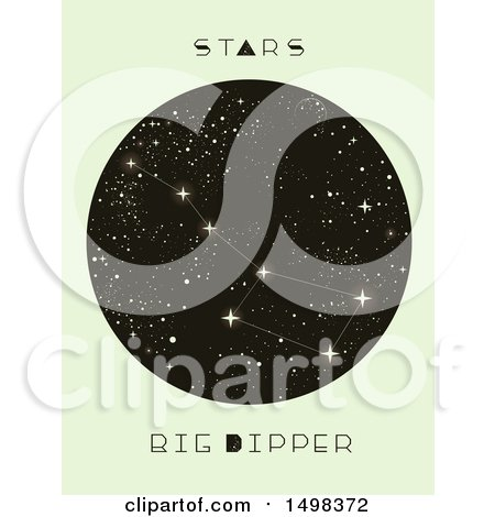 Clipart of a Big Dipper Constellation - Royalty Free Vector Illustration by BNP Design Studio