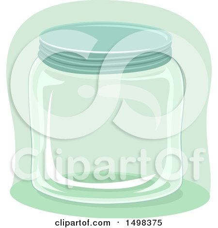 Clipart of a Glass Jar - Royalty Free Vector Illustration by BNP Design Studio